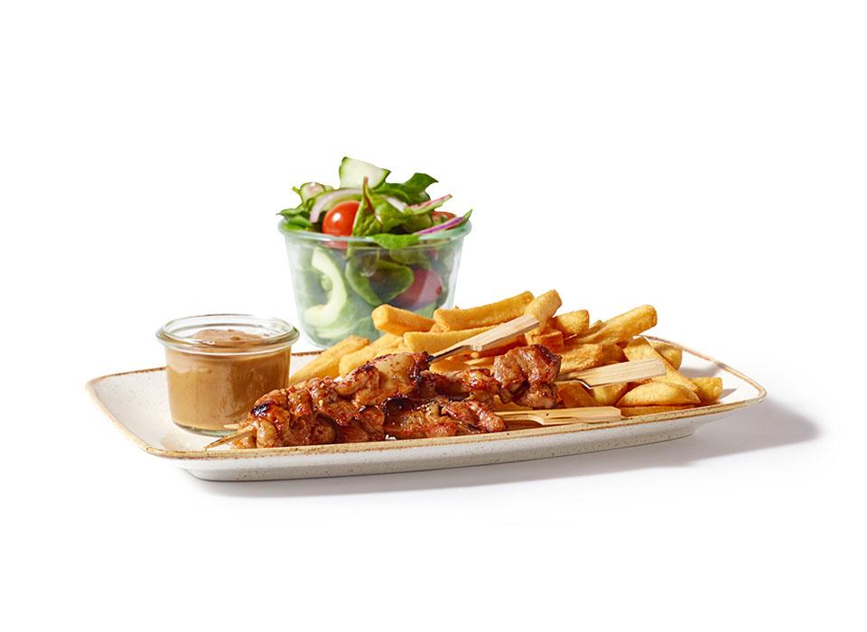 Kwalitaria kip saté menu